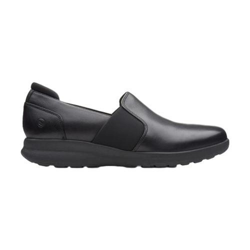 Clarks Women's Un Adorn Step Shoes Blacklthr
