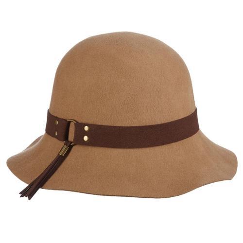 Dorfman-Pacific Co. Women's Cloche With Tassel Hat Fawn