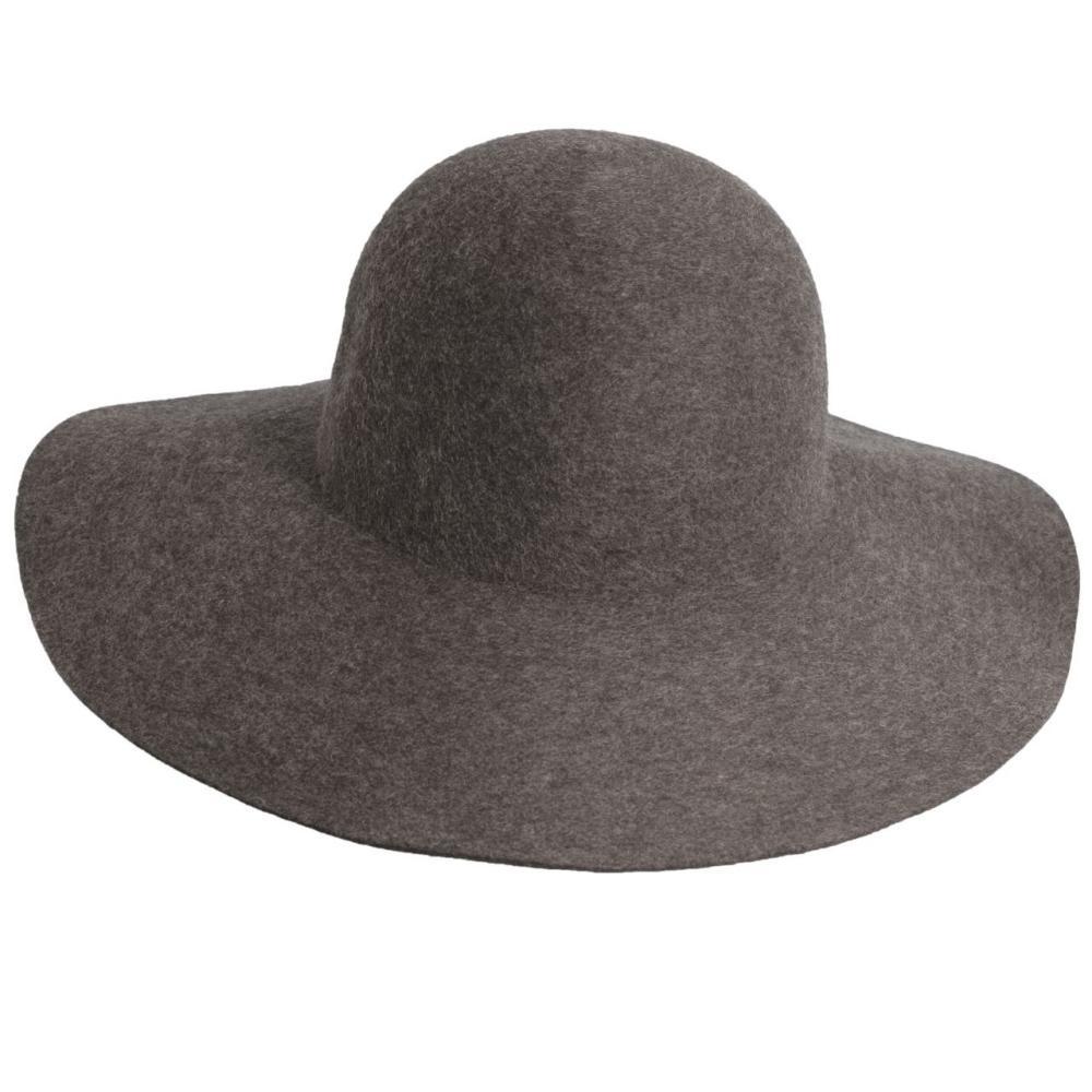 Dorfman-Pacific Co. Women's Floppy Felt Wool Hat CHARCOAL