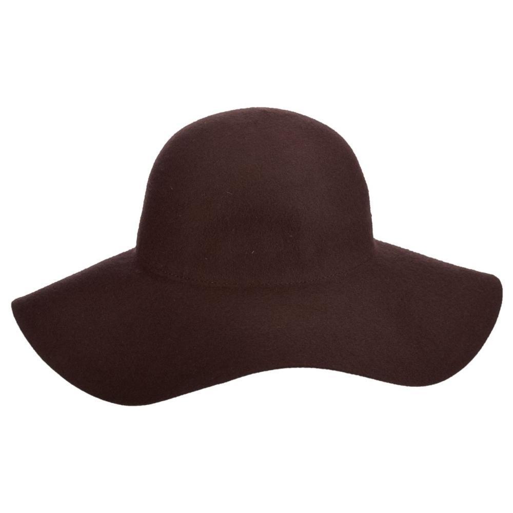 Dorfman-Pacific Co. Women's Floppy Felt Wool Hat CHOCOLATE