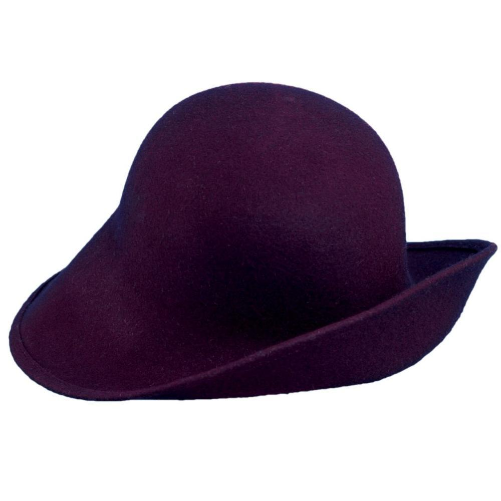 Dorfman-Pacific Co. Scala Women's Six Ways Hat EGGPLANT