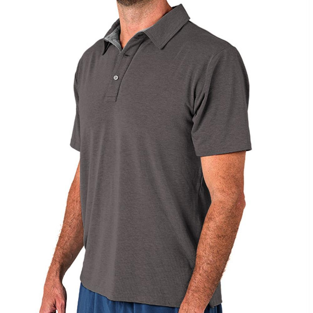 Free Fly Men's Bamboo Flex Polo CHARCOAL