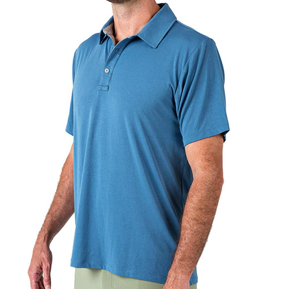 Free Fly Men's Bamboo Flex Polo WASHEDNAVY