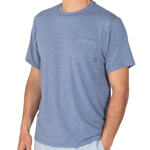 Free Fly Men's Bamboo Flex Pocket Tee Denim