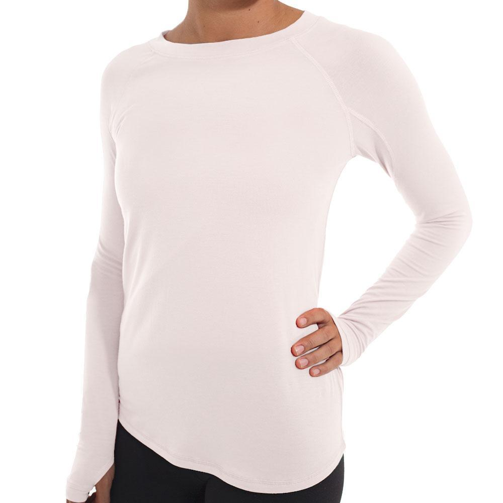 Free Fly Women's Bamboo Midweight Long Sleeve Pullover PEACH