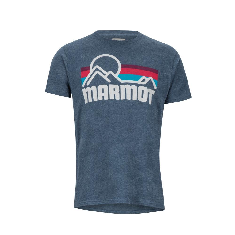 Marmot Men's Coastal Short Sleeve Tee NAVYHT_8550