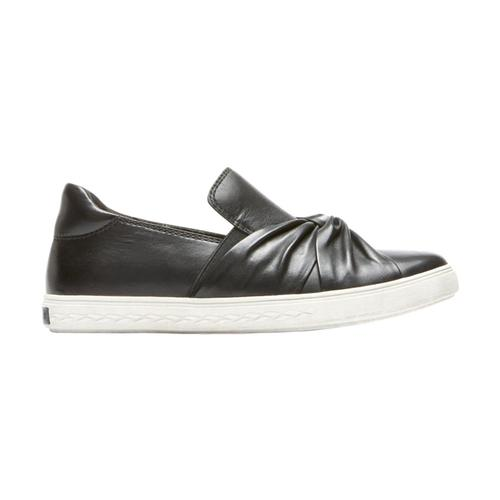 Cobb Hill Women's Willa Bow Slip-On Shoes Blacklthr
