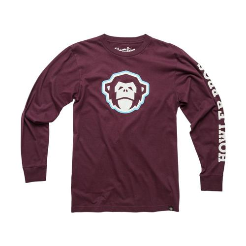 Howler Brothers Men's El Mono Long Sleeve T-Shirt Burgundy