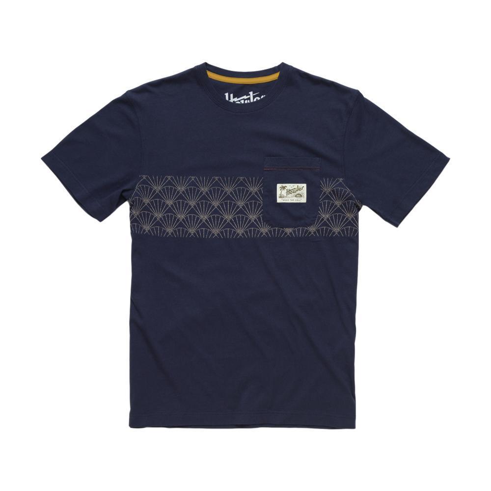 Howler Brothers Men's Shashiko Shell Stripe Classic Pocket T-Shirt SAPPHIRE