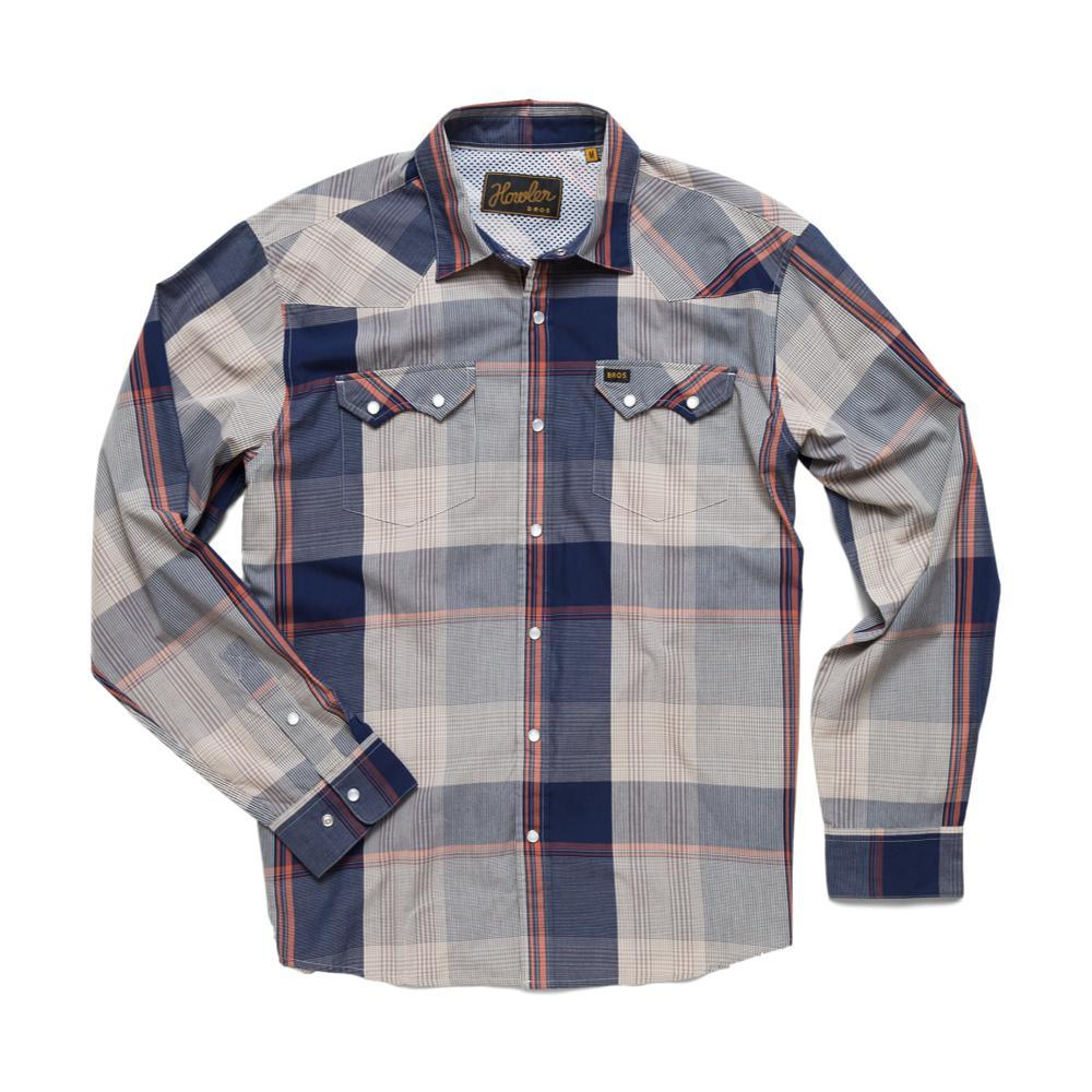 Howler Brothers Crosscut Long Sleeve Snapshirt OLDBLUE