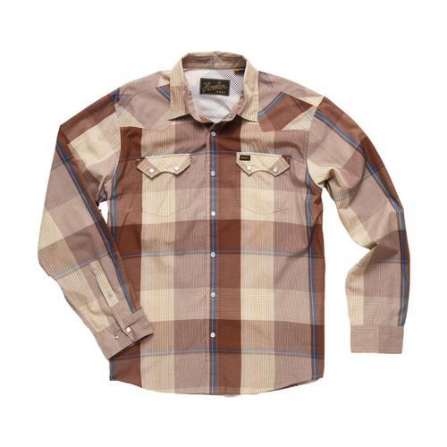 Howler Brothers Crosscut Long Sleeve Snapshirt Wrnglrbrown