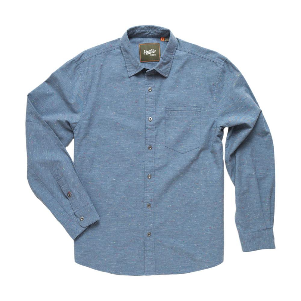 Howler Brothers Men's Enfield Speckled Oxford Long Sleeve Shirt PALACEBLUE