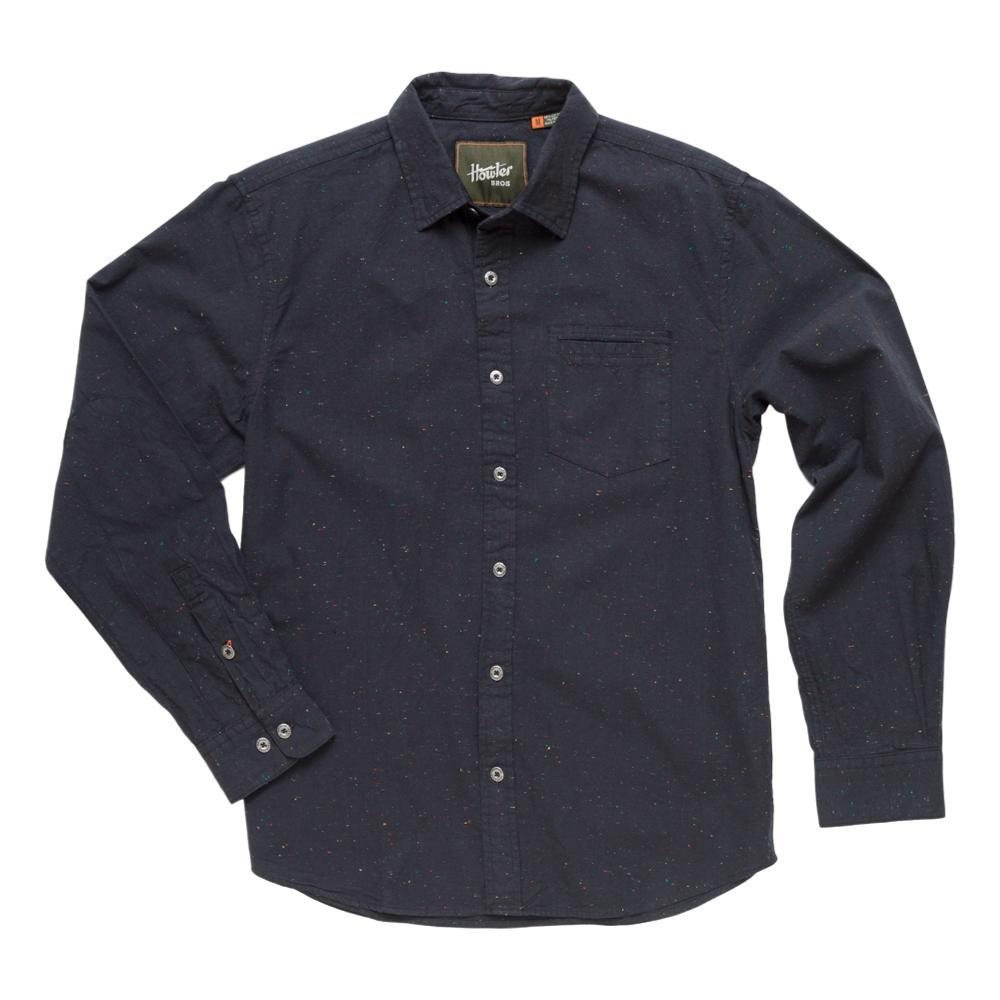 Howler Brothers Men's Enfield Speckled Oxford Long Sleeve Shirt SPIDERBLK