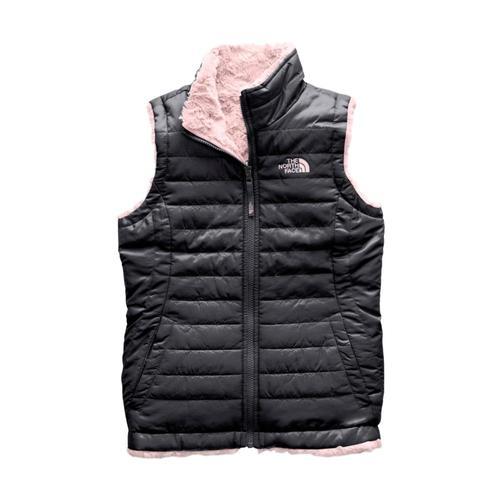 The North Face Girls Reversible Mossbud Swirl Vest Grey_3yn