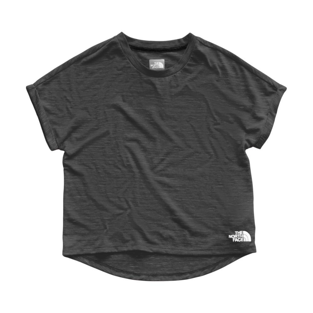 The North Face Girls Long And Short Of It Tee BLACK_KS7
