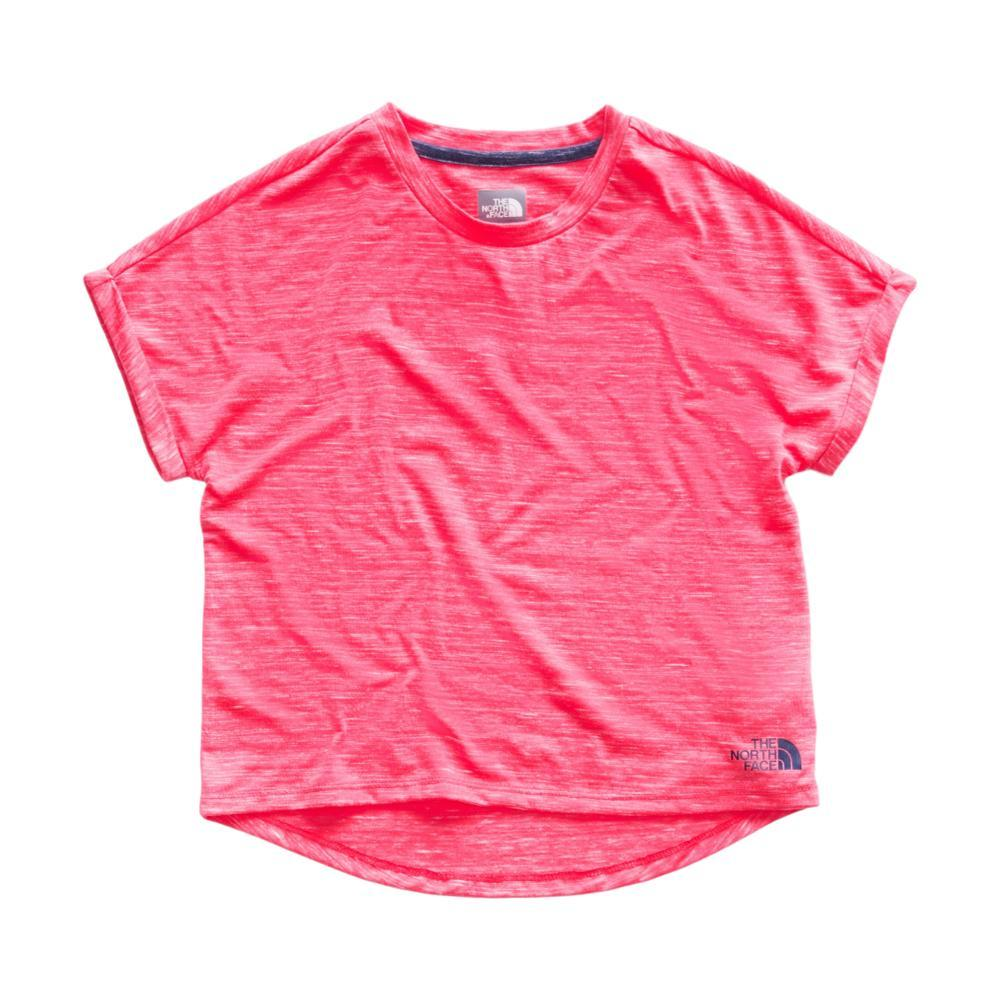 The North Face Girls Long And Short Of It Tee PINK_3CR
