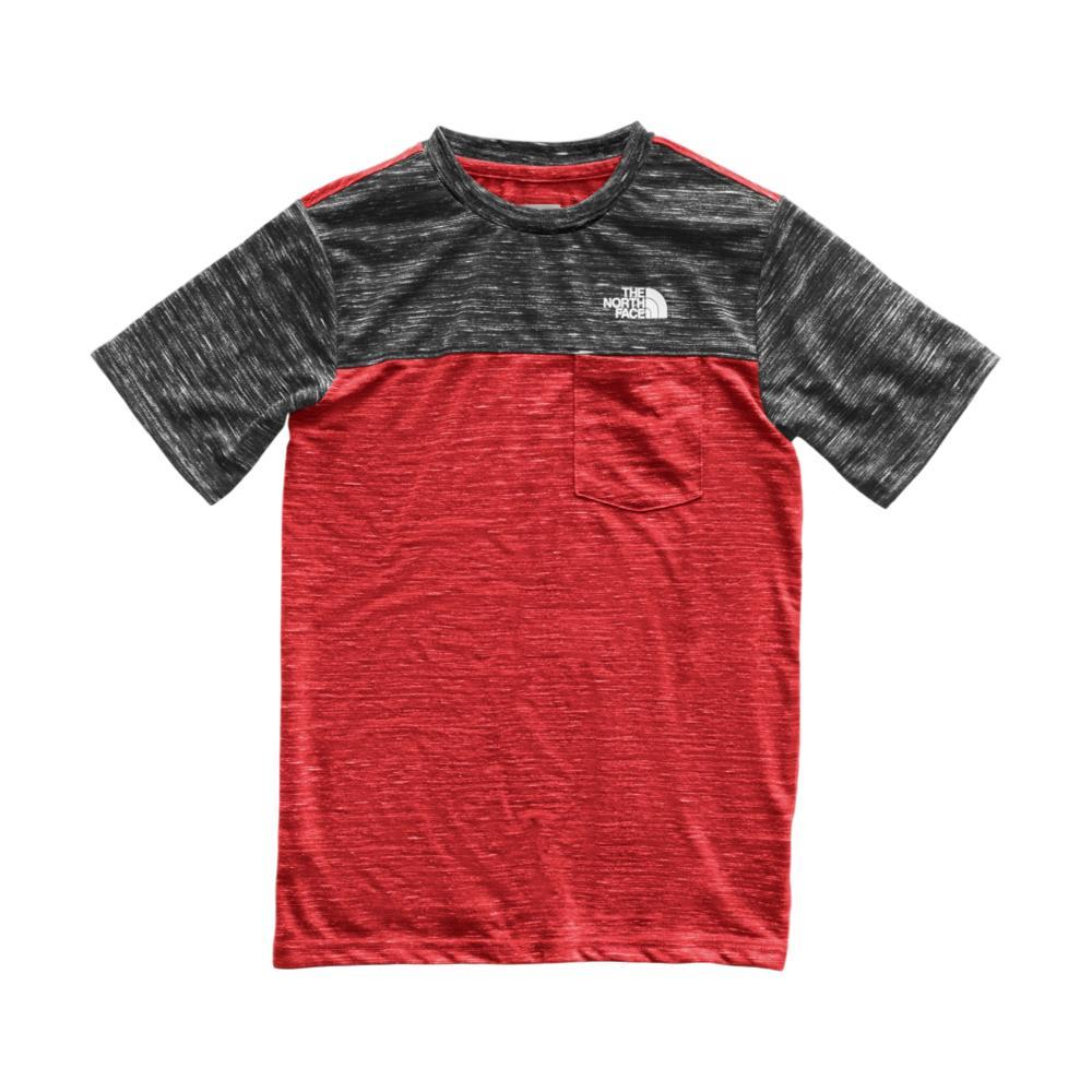 The North Face Boys Short Sleeve Pocket Tee REDGRY_674