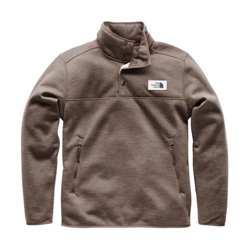 The North Face Men's Sherpa Patrol 1/4 Snap Pullover Qbp_brown