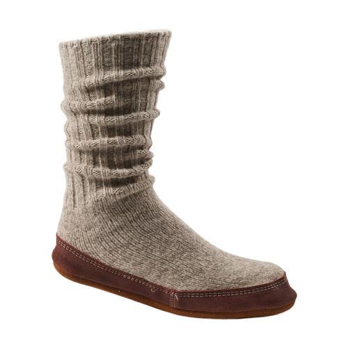 Acorn Unisex Slipper Socks Ltgryragwool