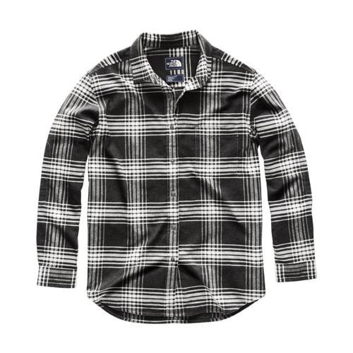 The North Face Women's Long Sleeve Boyfriend Shirt 7tg_vintwhite