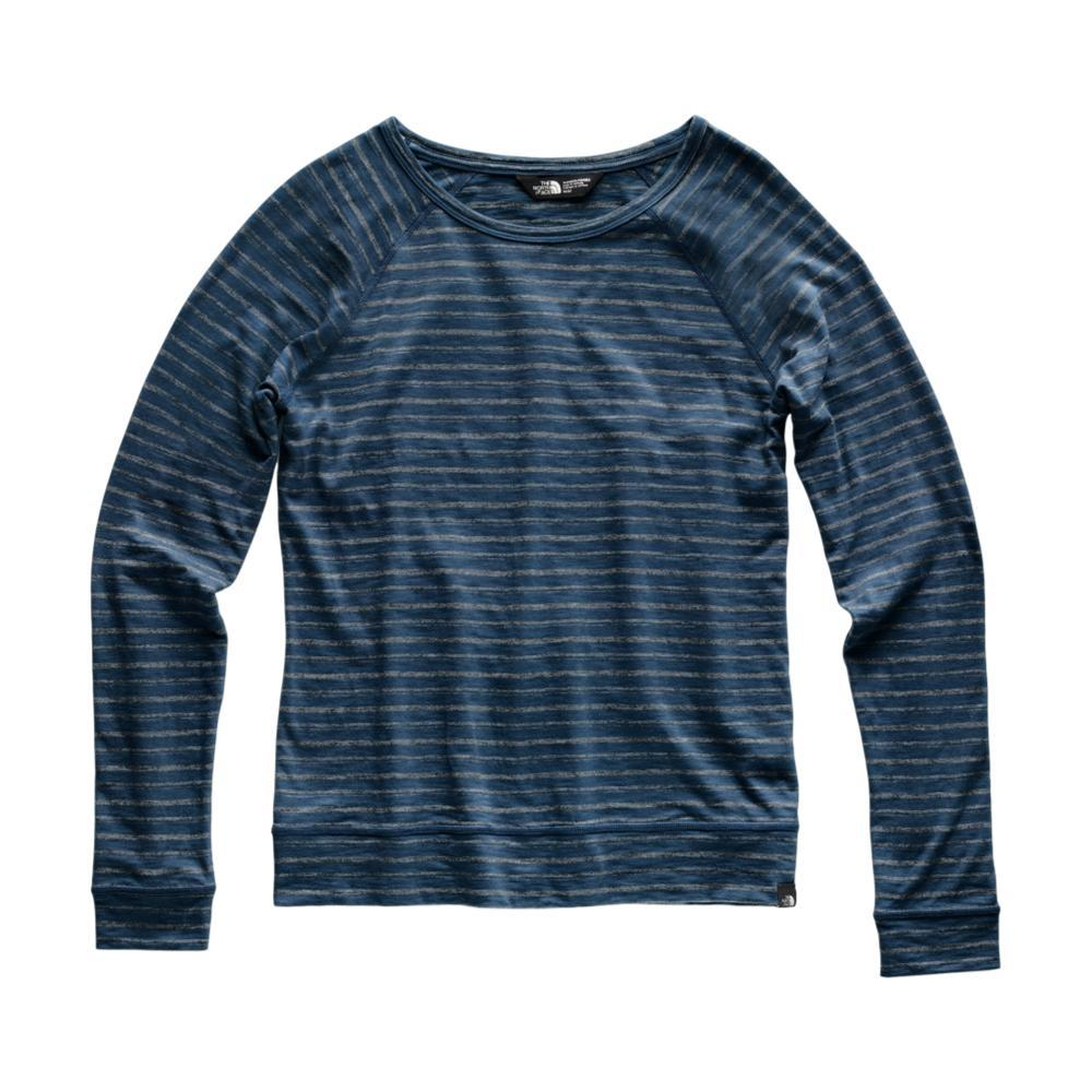 The North Face Women's Long Sleeve Sand Scape Crew 8DJ_TEAL