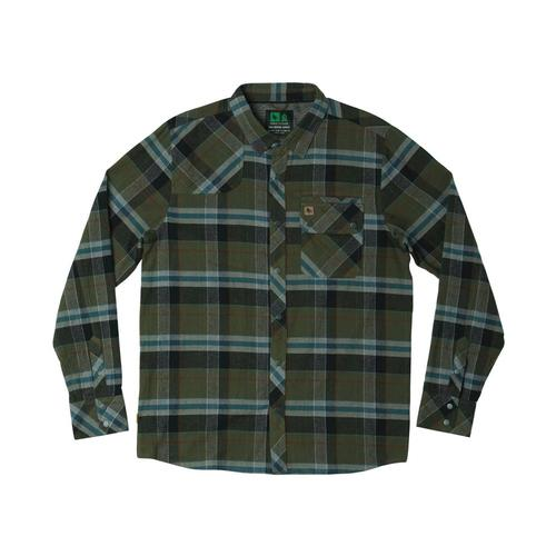 Hippy Tree Men's Newton Flannel Shirt Army