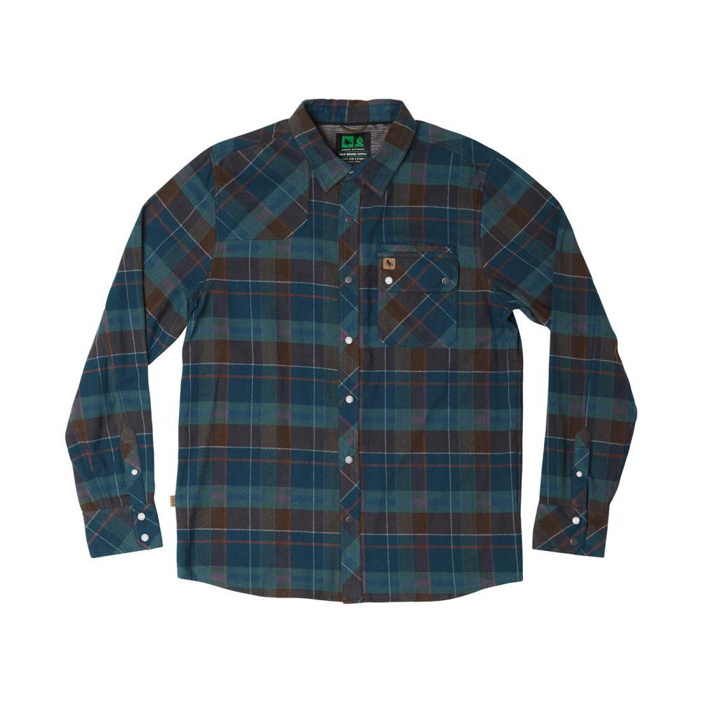 Hippy Tree Men's Newton Flannel Shirt BLUE