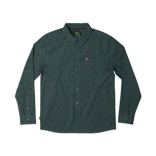 Hippy Tree Men's Token Woven Long Sleeve Shirt Slate