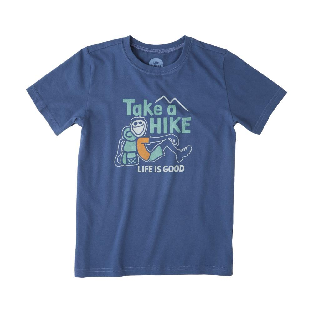 Life is Good Boys Take A Hike Crusher Tee DRKBLUE
