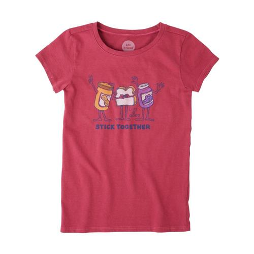 Life is Good Girls Stick Together PB&J Crusher Tee Wldchrry