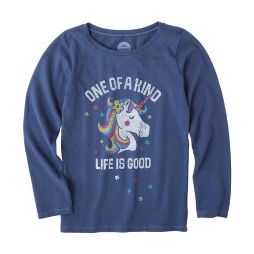 Life is Good Girls One Of A Kind Crusher Long Sleeve Tee Drkblue