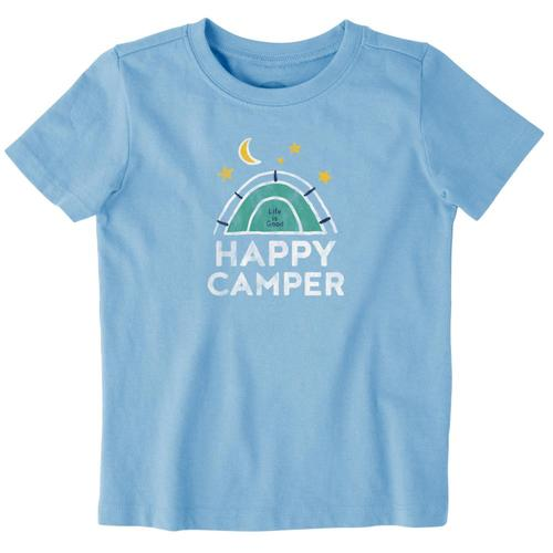 Life is Good Toddlers Happy Camper Crusher Tee Pwdrblue