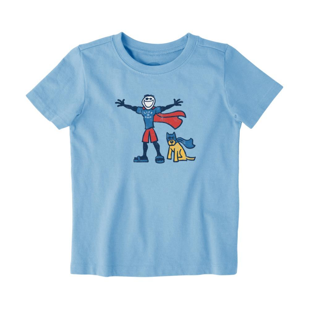 Life is Good Toddlers Superhero Jake Rocket Crusher Tee PWDRBLUE