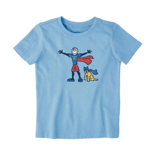 c1a9ac24ef4 Life is Good Toddlers Superhero Jake Rocket Crusher Tee Pwdrblue
