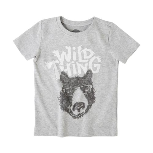 Life is Good Toddlers Wild Thing Bear Crusher Tee Hthrgray