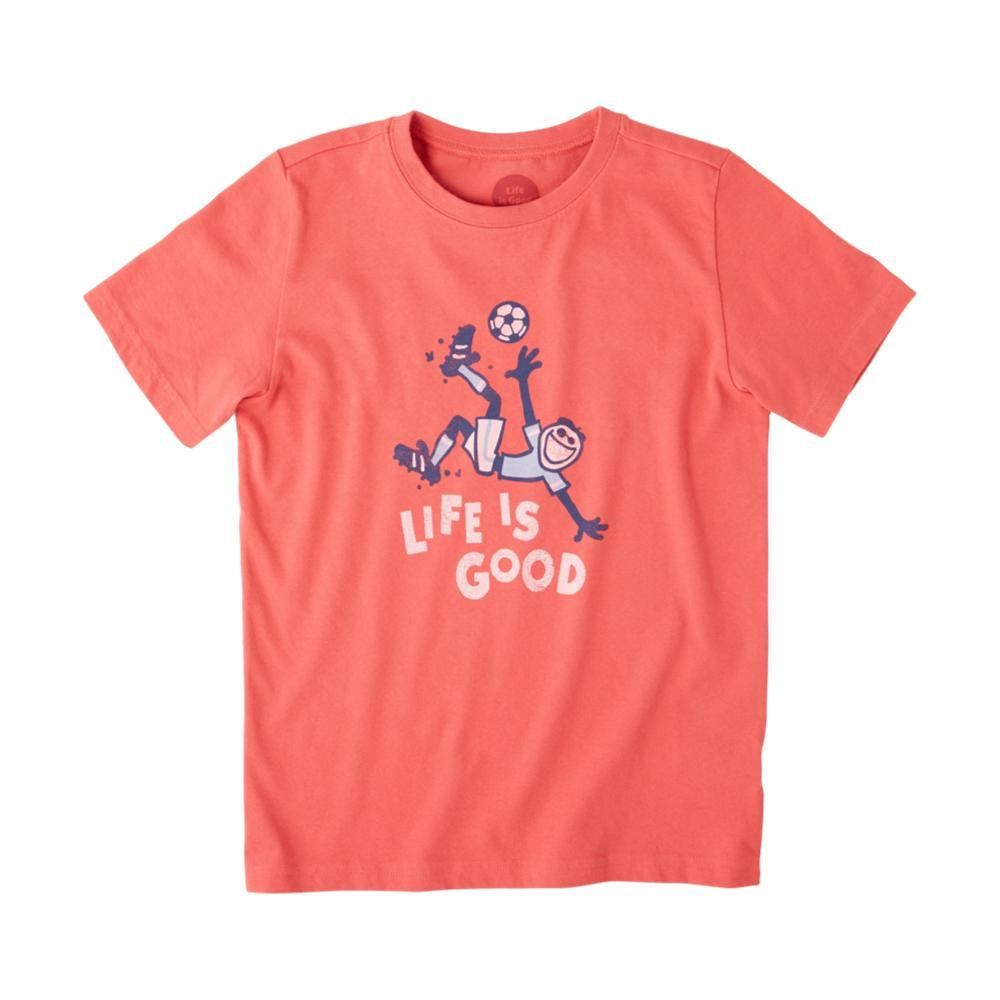 Life is Good Boys Jumping Soccer Crusher Tee RED