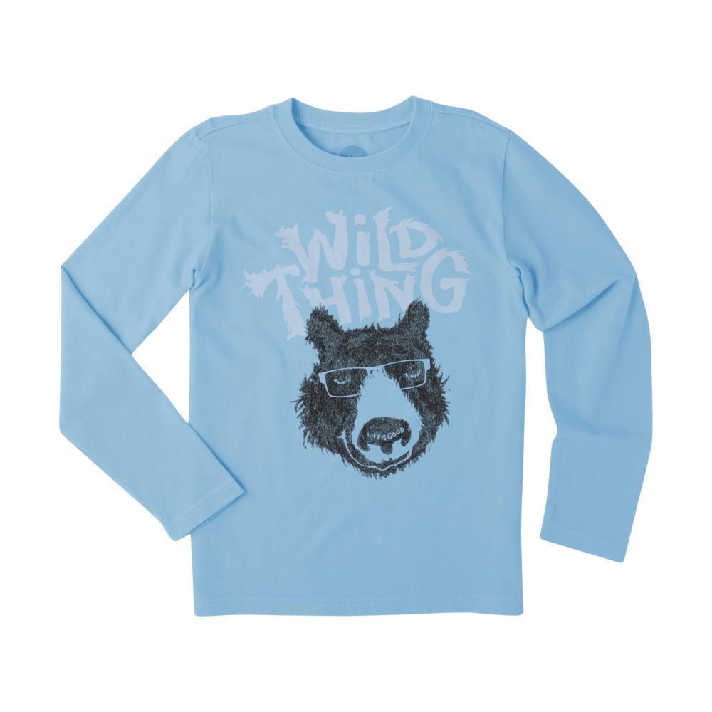 Life is Good Boys Wild Thing Bear Long Sleeve Crusher Tee CARBLUE