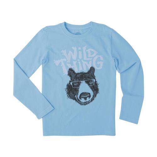 Life is Good Boys Wild Thing Bear Long Sleeve Crusher Tee
