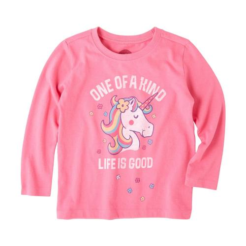 Life is Good Toddlers One of a Kind Long Sleeve Crusher Tee Fiestapnk