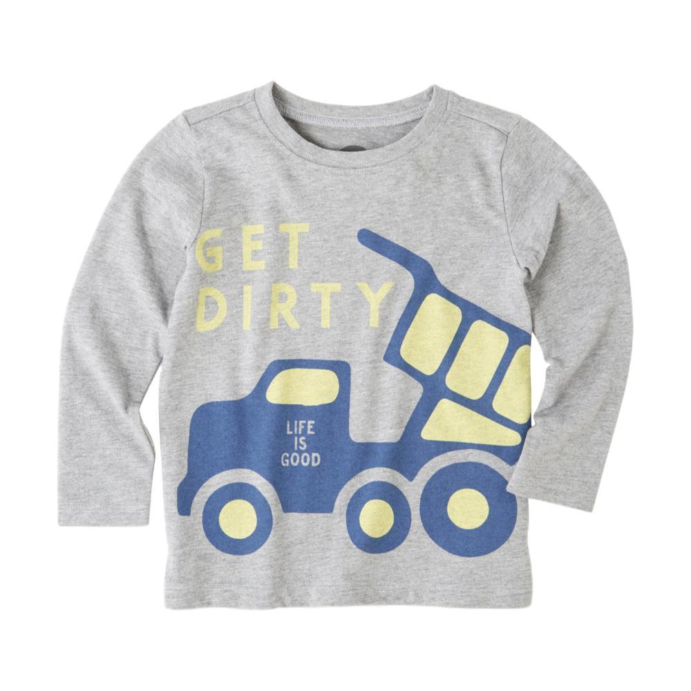 Life is Good Toddlers Get Dirty Long Sleeve Crusher Tee HTHRGRAY