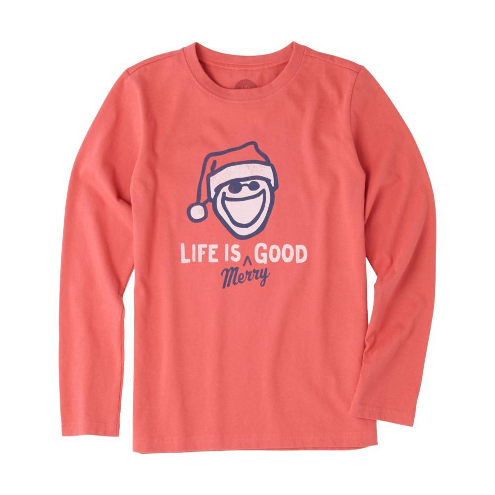 Life is Good Boys Life Is Merry Good Long Sleeve Crusher Tee RED