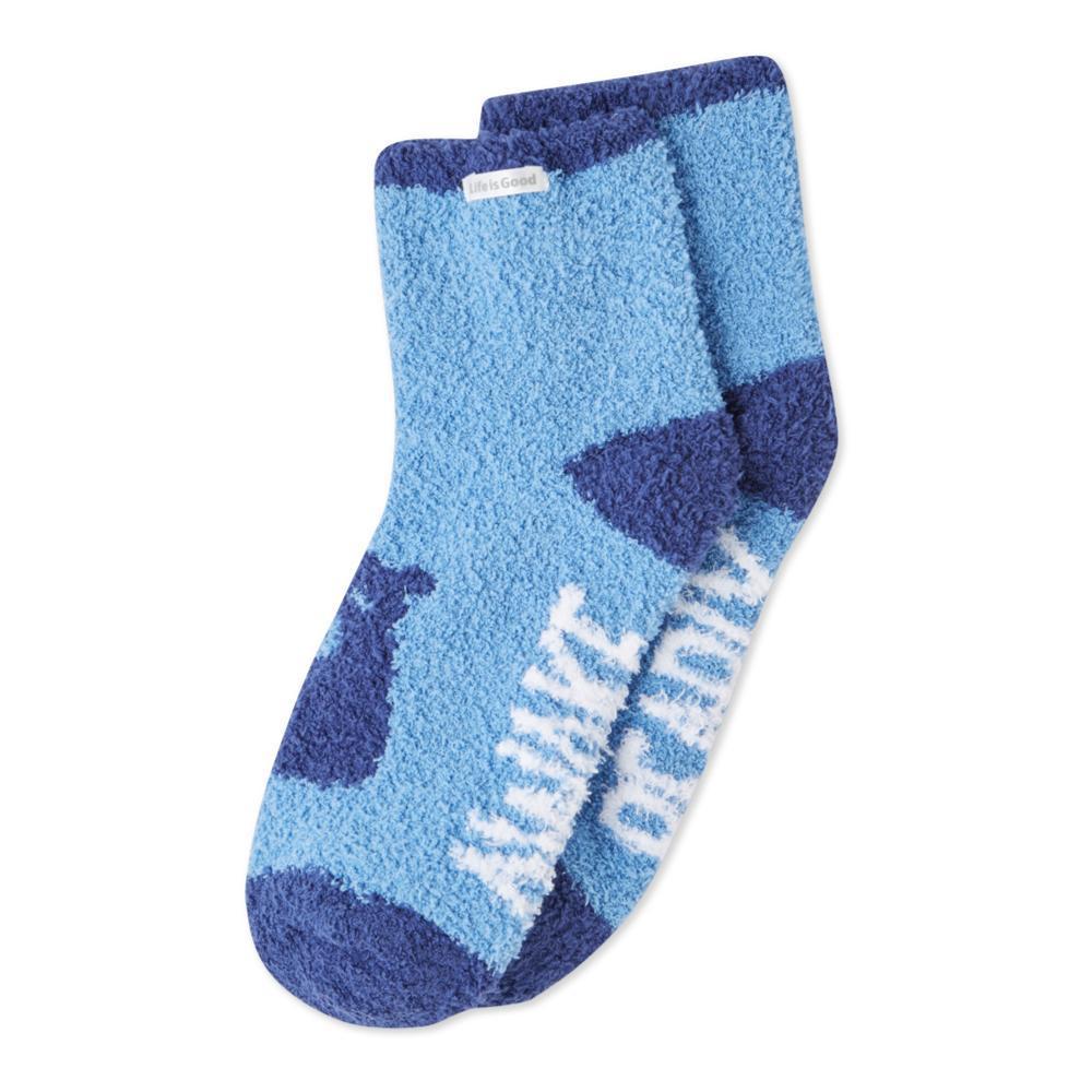 Life is Good Women's Bearly Awake Snuggle Crew Socks POWDERBLUE