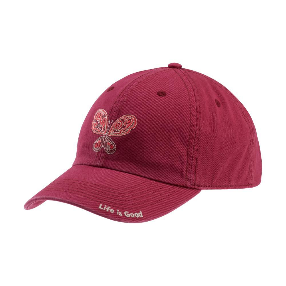 Life is Good Mosaic Butterfly Chill Cap WILDCHERRY