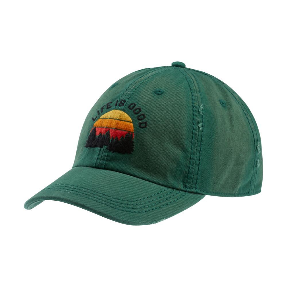 Life is Good Outdoor LIG Sunwashed Chill Cap FORESTGREEN