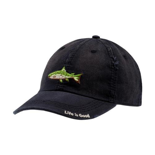 Life is Good Fish Stitch Sunwashed Chill Cap