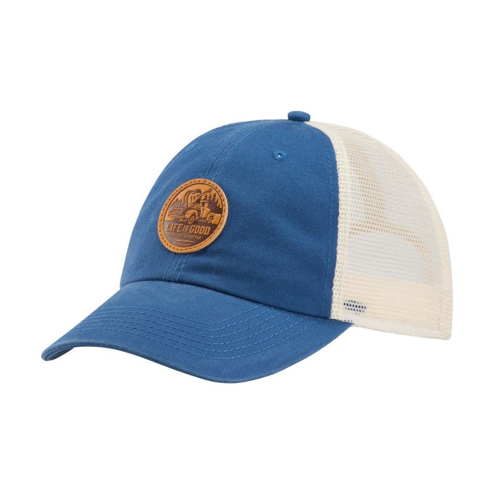 Life is Good Guitar Truck Patch Soft Mesh Back Chill Cap BONE