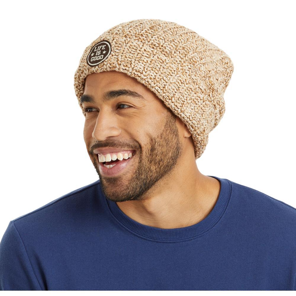Life is Good Get Loose Braided Beanie HTHOATMEAL