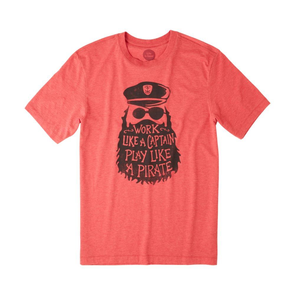 Life is Good Men's Play Like A Pirate Cool Tee AMERICANRED