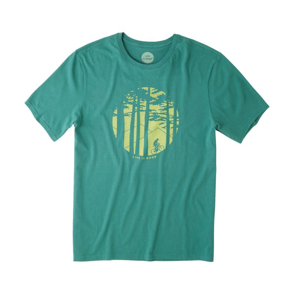 Life is Good Men's Mountain Bike Woods Smooth Tee FORESTGREEN