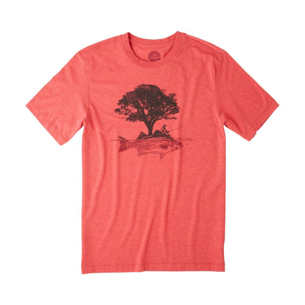 Life is Good Men's Fish Tree Cool Tee AMERICANRED
